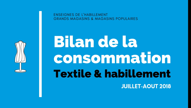 Bilan de la consommation Textile & Habillement en Juillet-Août 2018