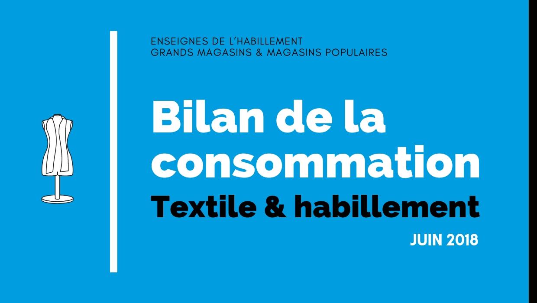 Bilan de la consommation Textile & Habillement en Juin 2018