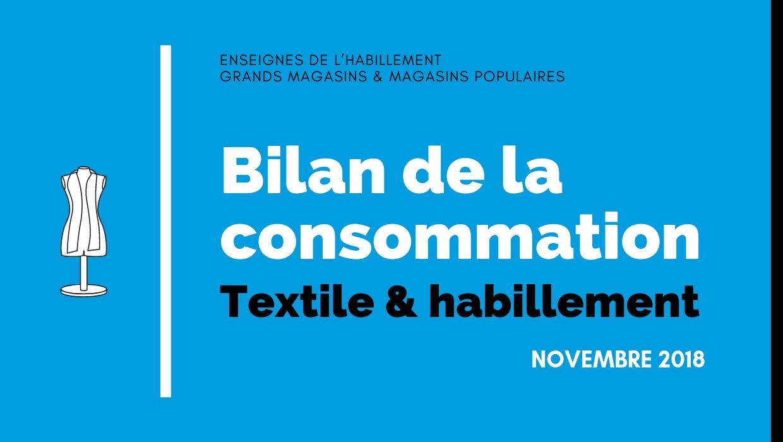 Bilan de la consommation Textile & Habillement en Novembre 2018