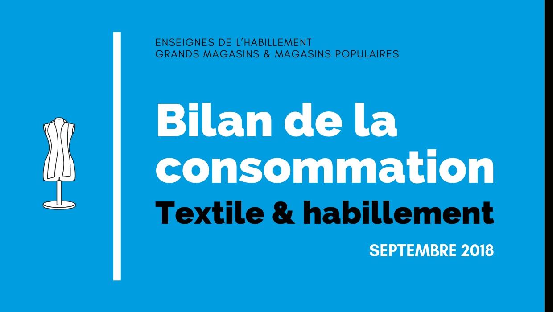 Bilan de la consommation Textile & Habillement en Septembre 2018