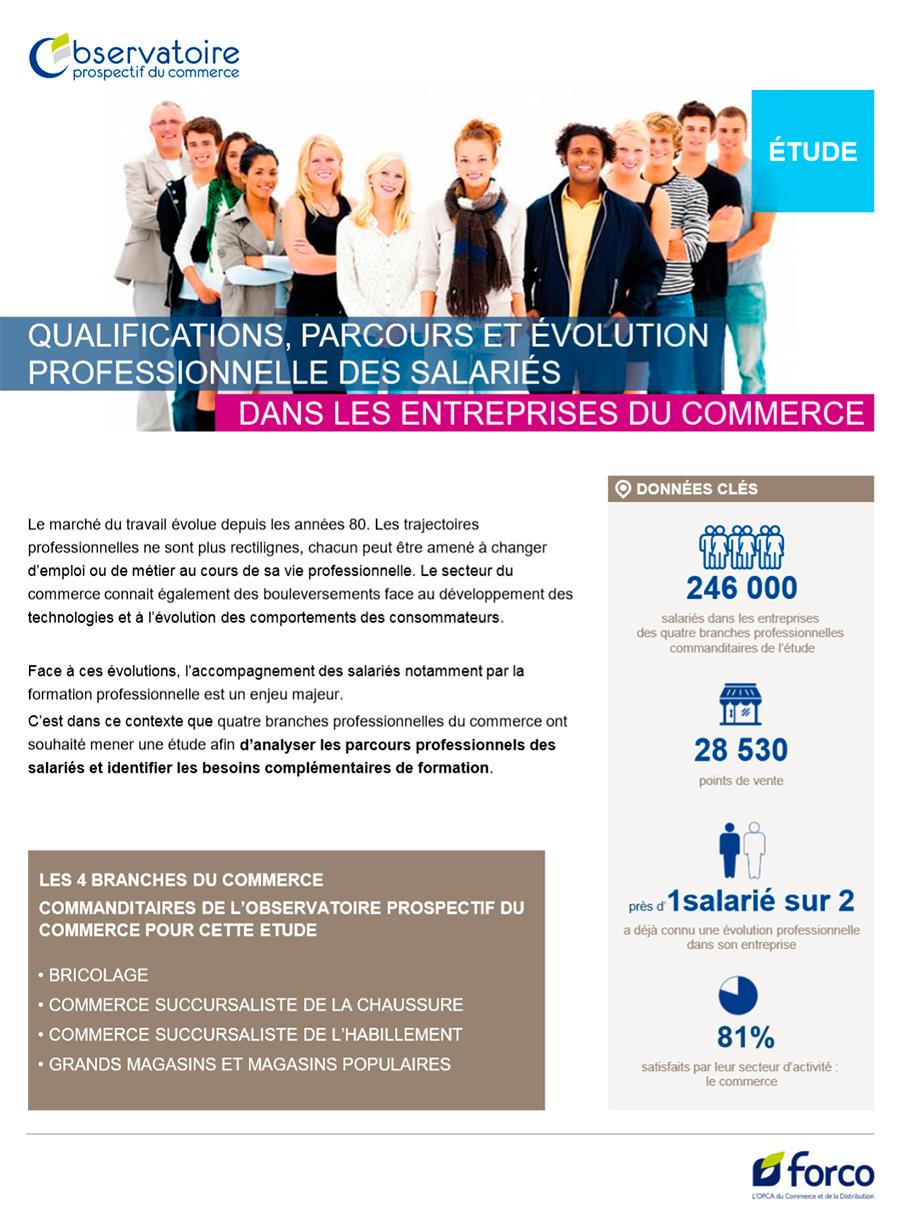Etude sur les qualifications, parcours et évolution professionnelle dans le commerce