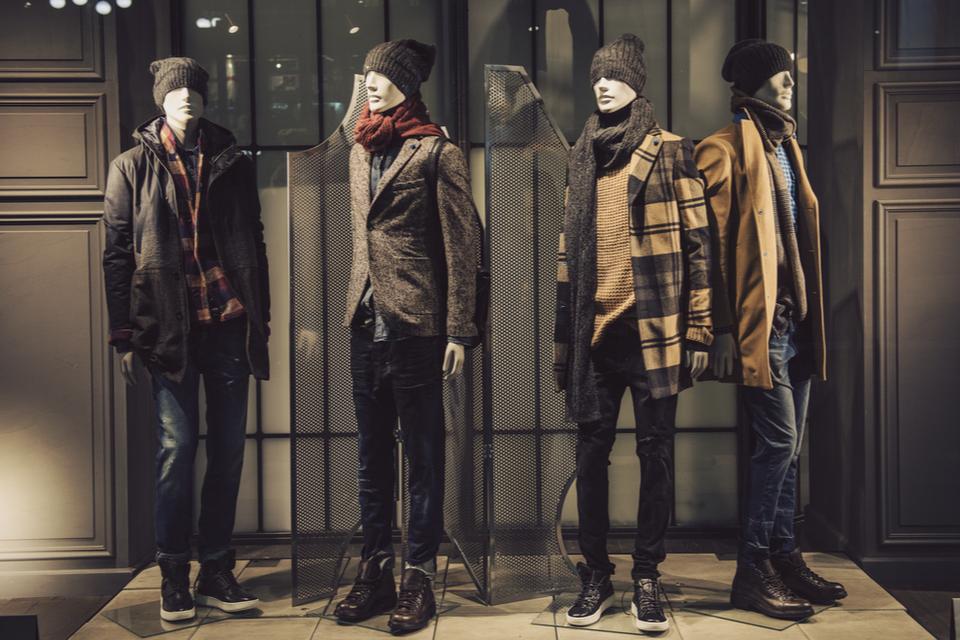 Vitrine commerce de mode